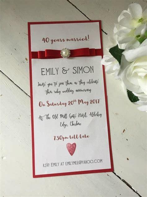 25  best ideas about Ruby wedding anniversary on Pinterest