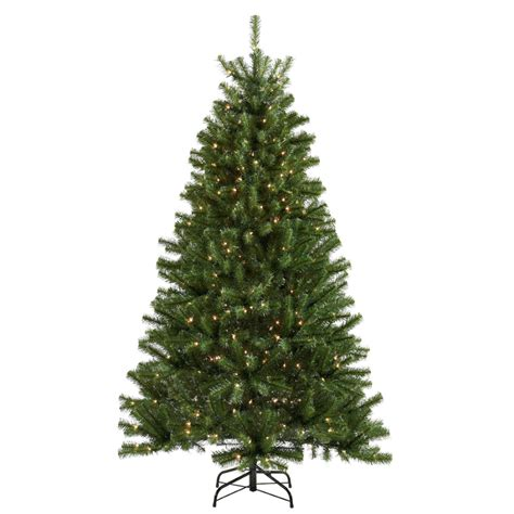 shop holiday living 6 1 2 ft spruce pre lit artificial