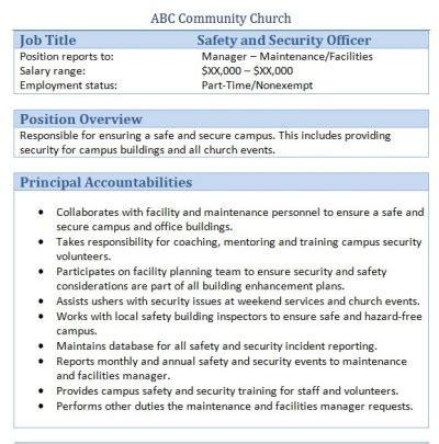 church coordinator job description