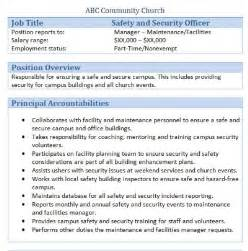 Security Officer Duties by 45 Free Downloadable Sle Church Descriptions