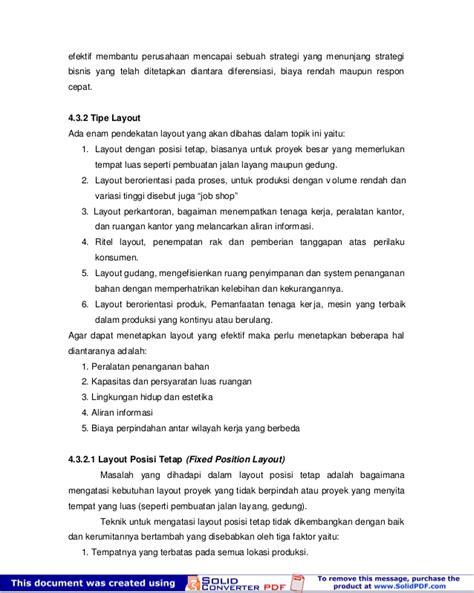 pengertian layout posisi tetap modul kewirausahaan