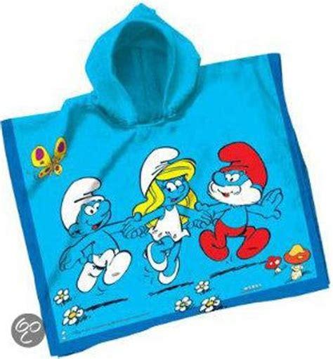 poncho handdoek bol smurfen handdoek poncho van der meulen speelgoed