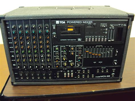Mixer Toa toa powered mixer mcx 106 for repair reverb