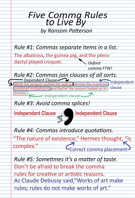 when to use commas for kids