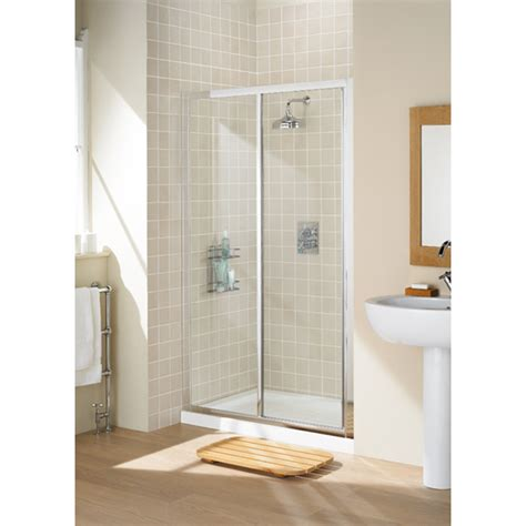 Lakes White Framed Sliding Shower Door And Side Panel Lakes Shower Doors