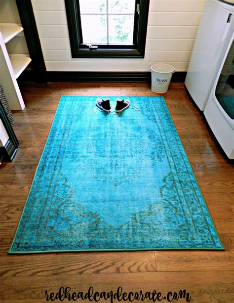 rugs for laundry room vintage turquoise rug laundry room makeover