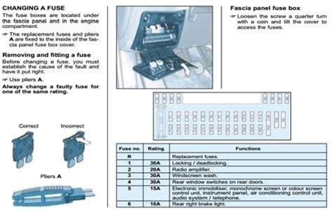 how to fix 2005 peugeot 607 3 0 peugeot 607 fuse box