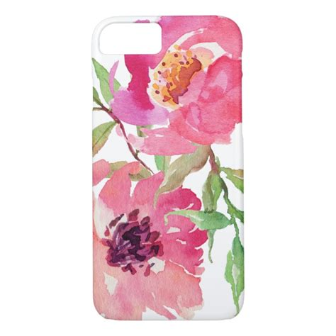 Pink Watercolor Flower Casing Iphone Oppo Samsung Custom girly pink watercolor floral pattern iphone 7 plus