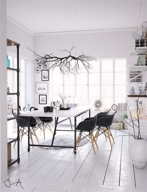 Scandinavian Room winter room asschier visualization