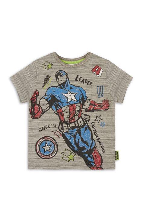 Raglan New Captain America 06 primark grey captain america capsule t shirt k i d s w