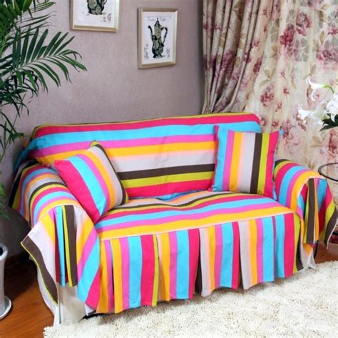 high end slipcovers high end slipcover in rainbow color