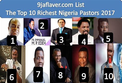 top 10 richest pastors in nigeria 2017 list 9jaflaver