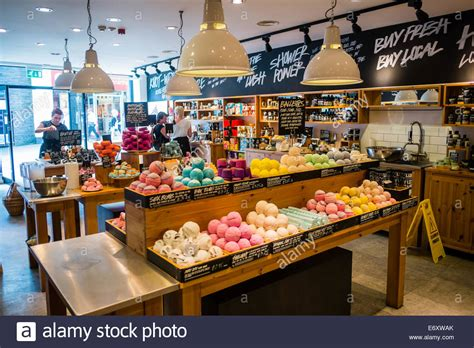 Handmade Cosmetics Uk - lush handmade cosmetics shop store uk stock photo royalty