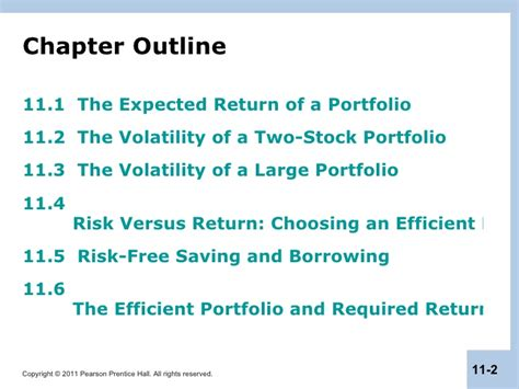 Capm Vs Mba by Berk Chapter 11 Optimal Portfolio Choice Capm