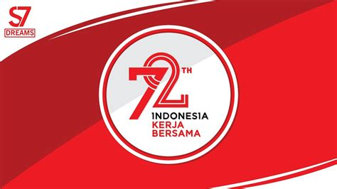 kemerdekaan indonesia vector logo 72th kemerdekaan indonesia