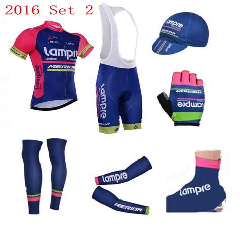 Bike Jersey Set 2016 pro team lre cycling jersey set breathable summer sleeve bike cloth mtb
