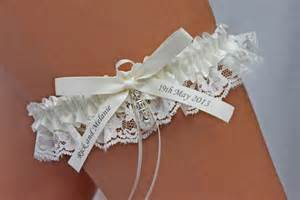 garter wedding personalised ivory wedding garters australia