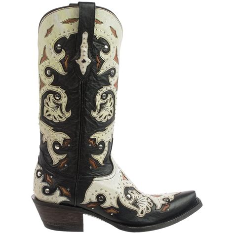 studded boots for lucchese fiona studded cowboy boots for
