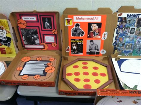 pizza box book report pizza box biographies reading ideas