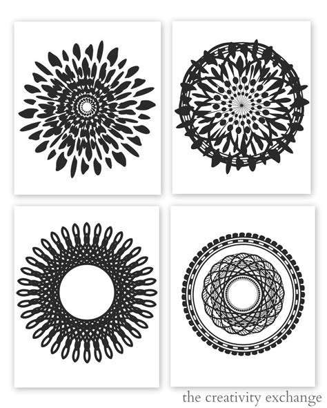 printable wall art black and white 5 best images of free printable wall art black and white