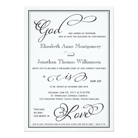 Christian Wedding Invitations by Simple God Is Christian Wedding Invitation Zazzle