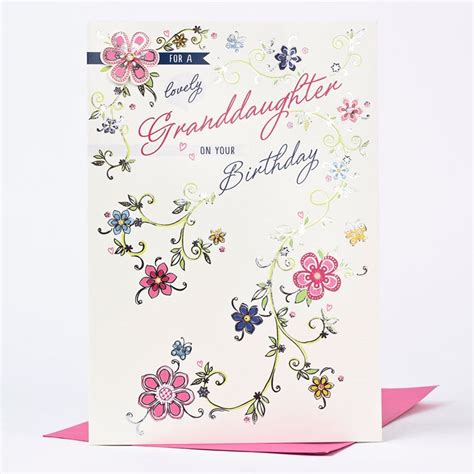Birthday Cards For Granddaughter Birthday Card Lovely Granddaughter Only 163 1 49