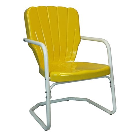 Metal Patio Chair Thunderbird Retro 1950 S Retro Metal Lawn Chair With Heavy Duty Frame