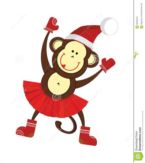 happy new year monkey happy new year monkey stock vector image 58532943