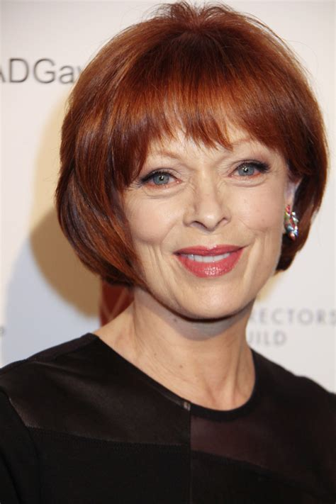 red hair colour on mature women frances fisher short red bob