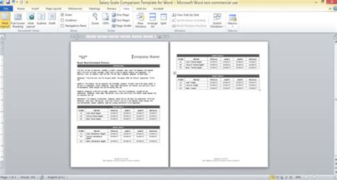 layout artist pay scale salary scale comparison template for word