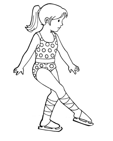 Ice Skate Outline Az Coloring Pages Coloring Pages Skating