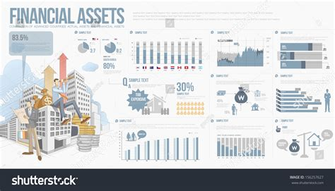 Financial Asset Search Info Graphics Price Index Financial Asset Stock Vector Illustration 156257627
