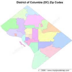 Zip Code Map Dc by District Of Columbia Zip Code Maps Free District Of
