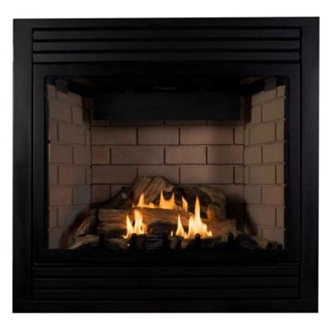 emberglow 41 in vented propane gas fireplace in black