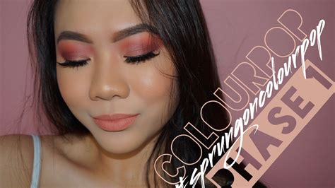 Colourpop Phase Me Out tutorial colourpop phase 1 nectar sprungoncolourpop