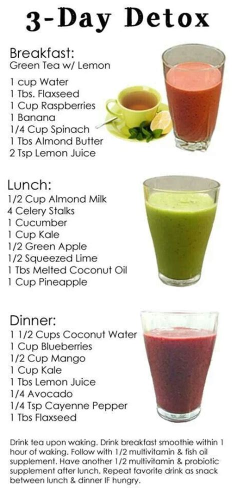 How To Detox After And Much by 3 Day Detox Health Fitness Weight Loss Detox