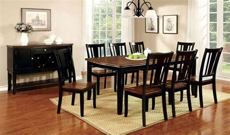 dover black and cherry rectangular extendable leg dining