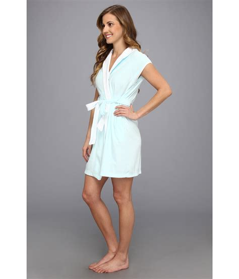 Dress Flow Babyterry lyst betsey johnson baby terry bridal robe in blue