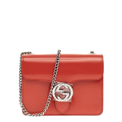 Gucci Emboss Sling Bag Medium Semi Premium gucci interlocking shoulder bag patent small at 1stdibs