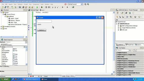 delphi tutorial service application learning to program delphi tutorial 1 hello world