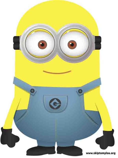 minion cutout template free printable minions skip to my lou