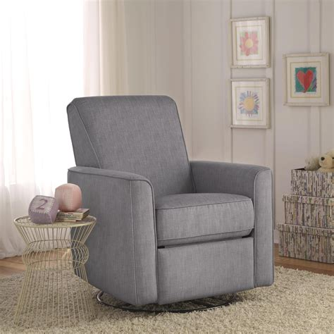 grey glider recliner for nursery zoey grey nursery swivel glider recliner chair is