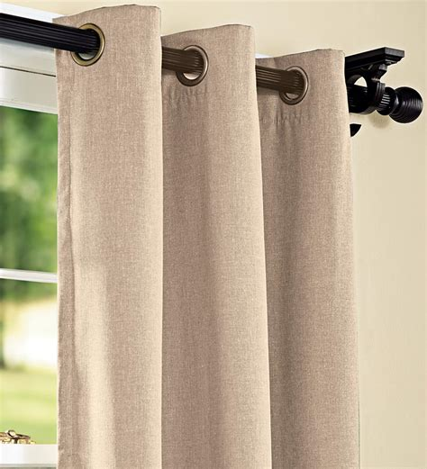 energy curtains 63 quot energy efficient grommet top insulated curtain