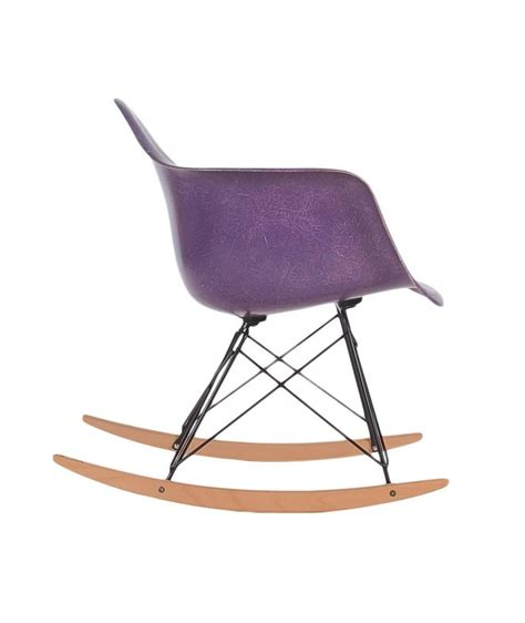 eames rocking chair fiberglass charles eames for herman miller purple fiberglass lounge