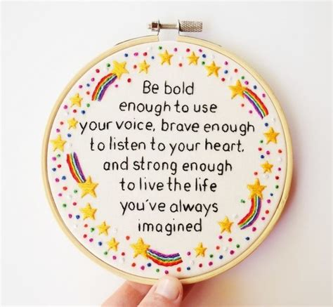 embroidery quotes uplifting embroidery that offers empowering words of