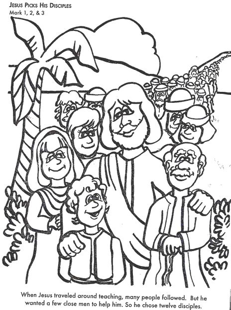 coloring pages of jesus and his disciples discover and save creative ideas