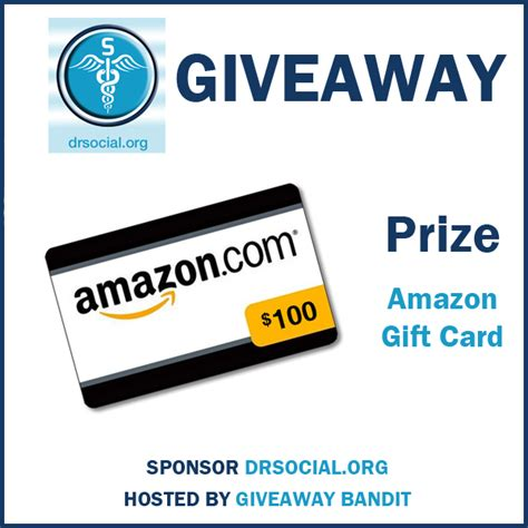 Amazon Gift Card Sweepstakes - drsocial amazon gift card giveaway the bandit lifestyle