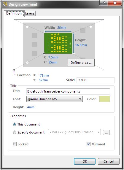 online layout view definition pcb design view online documentation for altium products