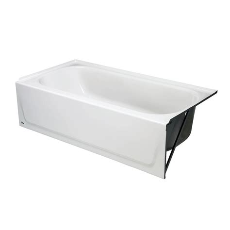 bathtub drain home depot bootz industries kona 4 1 2 ft right hand drain soaking tub in white 011 2302 00