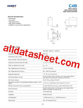 kemet capacitors datasheet mkp datasheet pdf kemet corporation